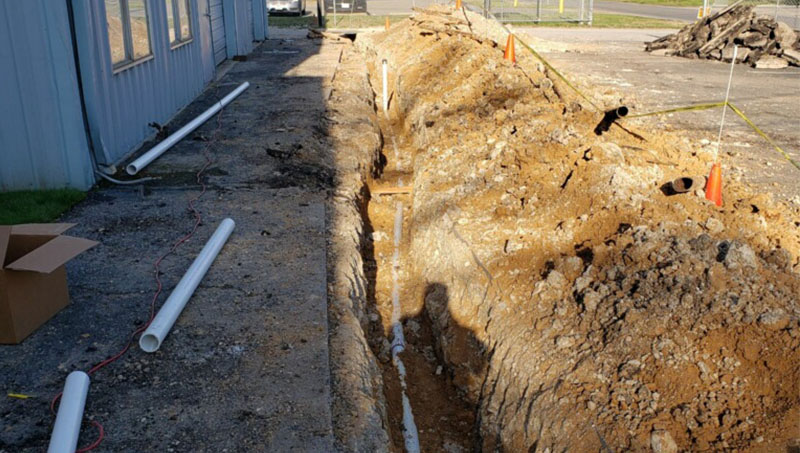 Sewer line installation in Allen Texas